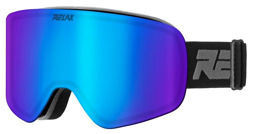 Lyžování - lyžařské brýle RELAX Feelin černé HTG49B