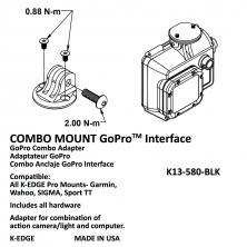 držák kamery K-EDGE GoPRO (světla) combo mount black
